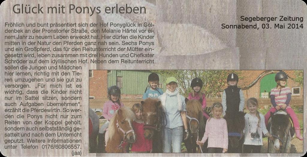 Segeberger Zeitung 03.05.2014